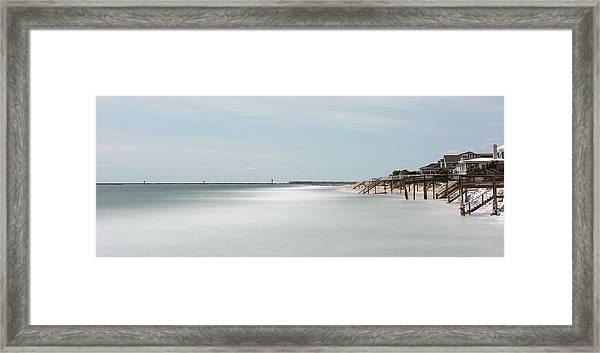 Garden City Ocean Front Living Color Framed Print