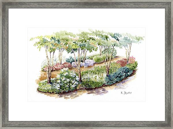 Garden, Dark Side Framed Print
