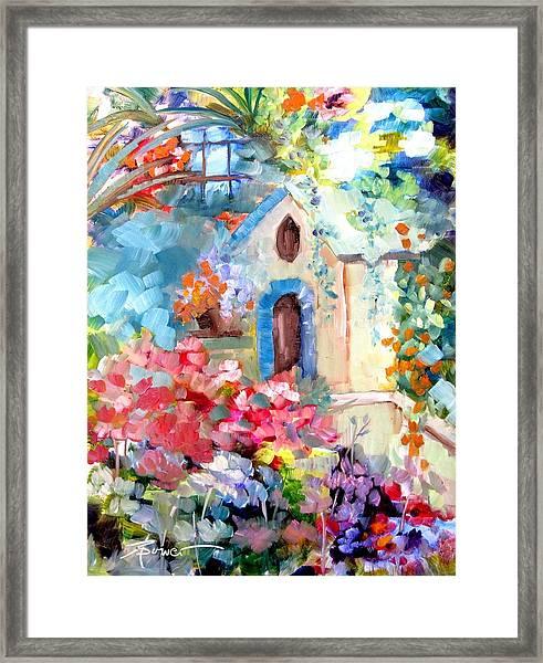 Garden Door  Framed Print