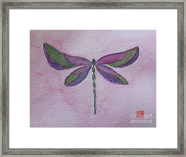 Garden Dragonfly Framed Print