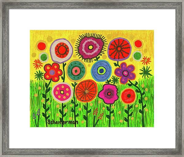 Garden Extravaganza Framed Print