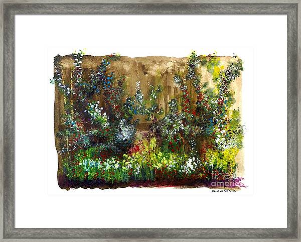 Garden Fence Framed Print