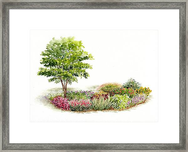 Garden Fresh Watercolor Painting Framed Print