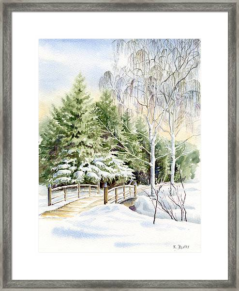 Garden Landscape Winter Framed Print