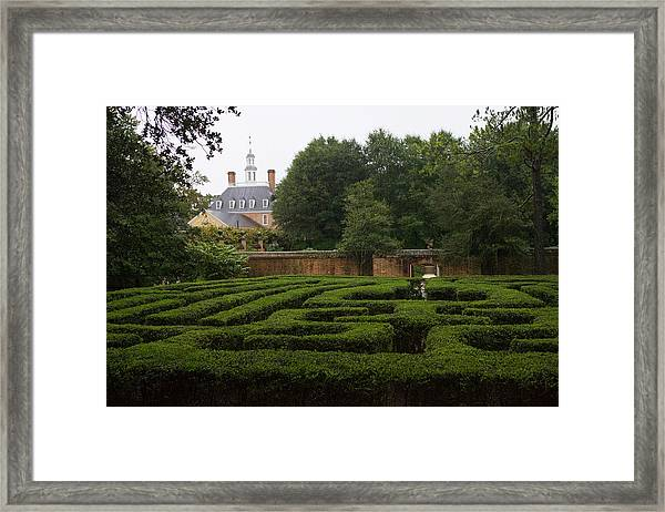 Garden Maze At Governors Palace Framed Print
