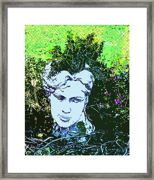 Garden Nymph Head Planter Framed Print