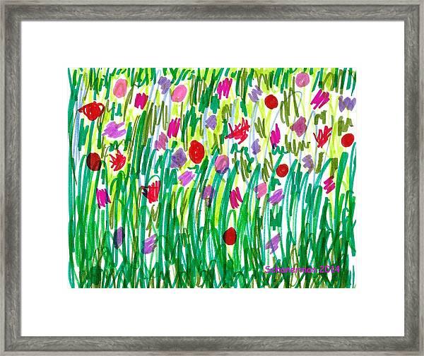 Garden Of Flowers Framed Print