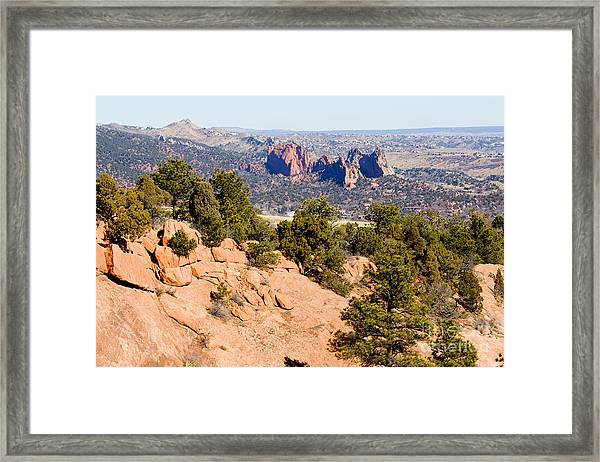 Garden Of The Gods And Springs West Side Framed Print