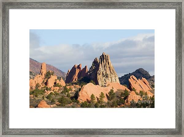 Garden Of The Gods Colorado Springs Framed Print