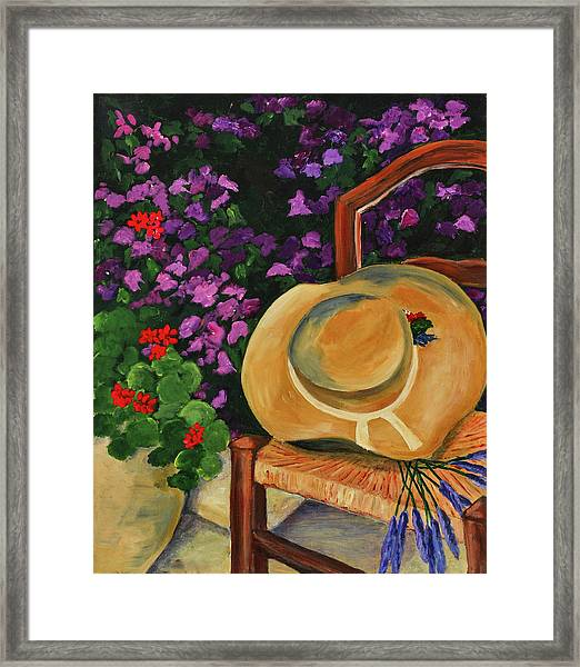 Framed Print featuring the painting Garden Scene by Elise Palmigiani