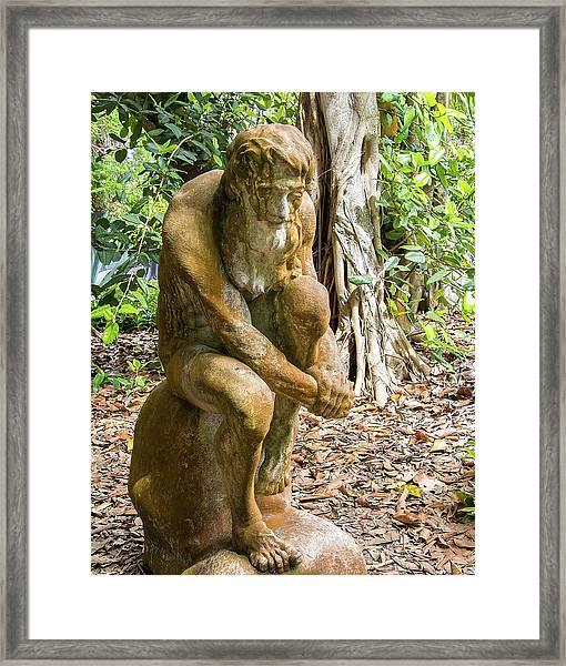 Garden Sculpture 3 Framed Print