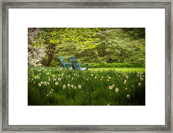 Garden Seats Framed Print