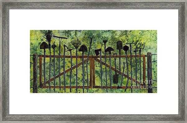 Garden Tools Framed Print