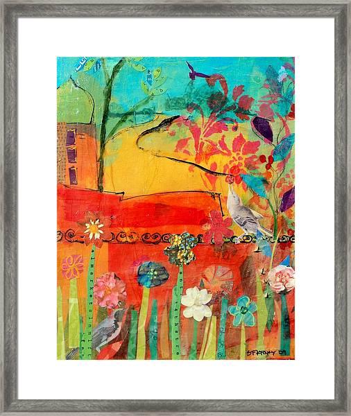Garden Walls Framed Print by Suzanne Kfoury