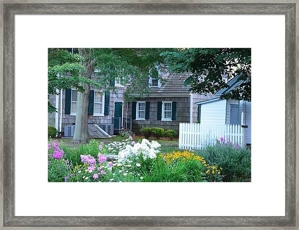 Gardens At The Burton-ingram House - Lewes Delaware Framed Print