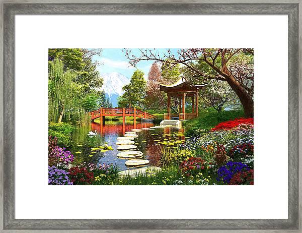 Gardens Of Fuji Framed Print