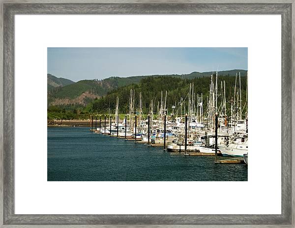 Garibaldi Oregon Marina Framed Print