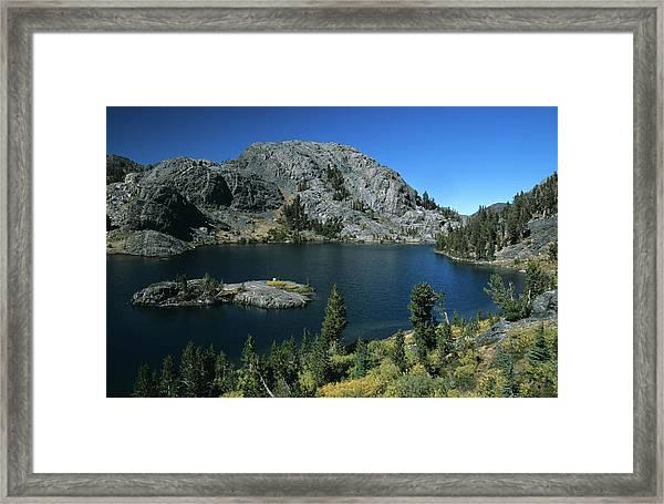 Garnet Lake Island Fall Color Framed Print