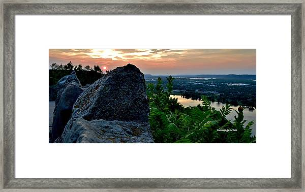 Garvin Heights Sunset Framed Print