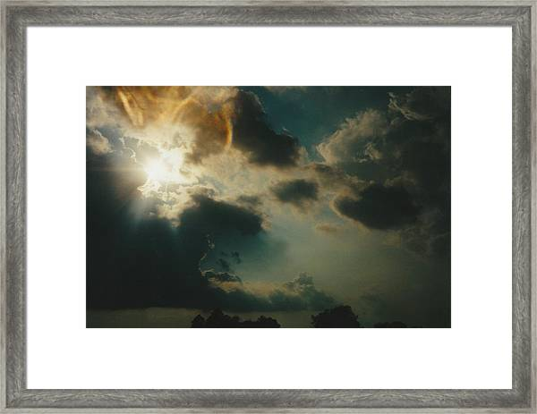 Gary Indiana Storm On The Rise Framed Print by Gene Linder