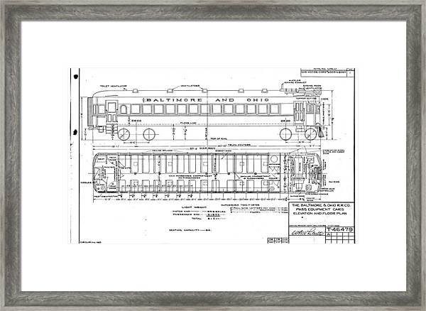 Gas Electric Car Diagram Framed Print