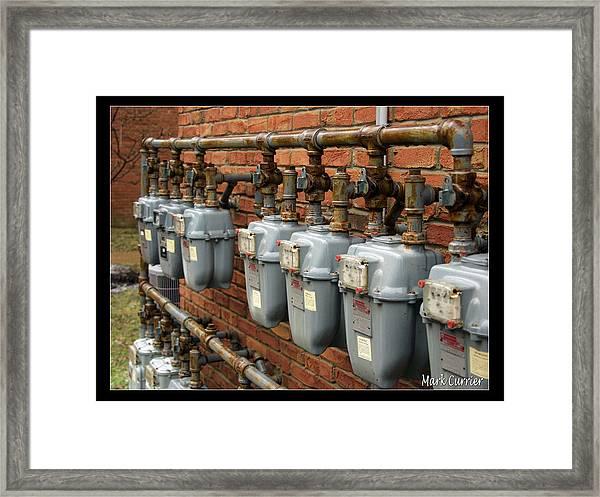 Gas Meters Framed Print