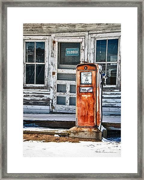 Gas Pump 7153 Framed Print