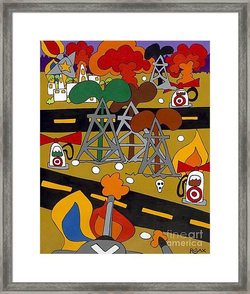 Gas Wars Framed Print