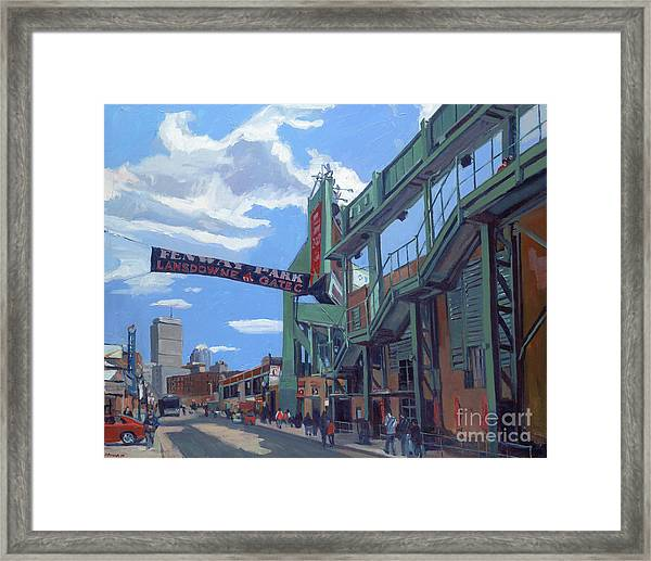 Gate C Framed Print