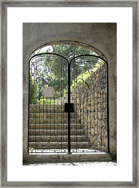 Gate To Biblioteca S Francesco Framed Print