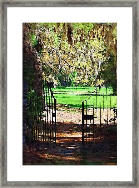 Gate To Heaven Framed Print