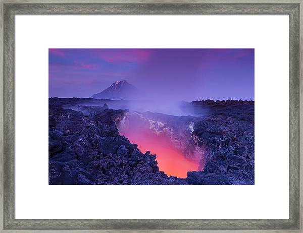 Gate To Hell Framed Print