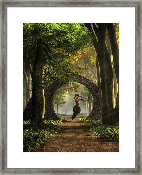 Gate To Pan's Garden Framed Print