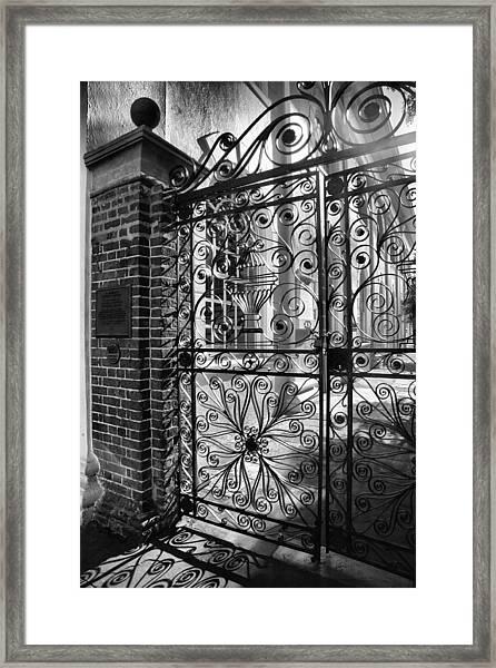 Gate To St. Michaels Framed Print