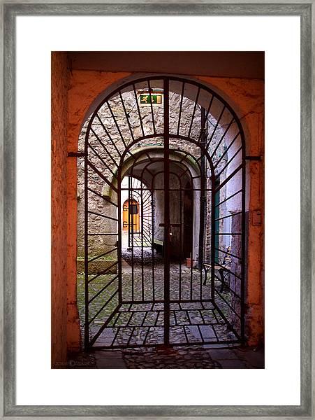 Gated Passage Framed Print