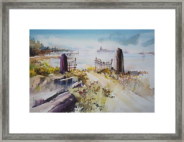 Gated Shore Framed Print