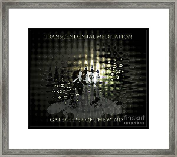 Gatekeeper Of The Mind Framed Print