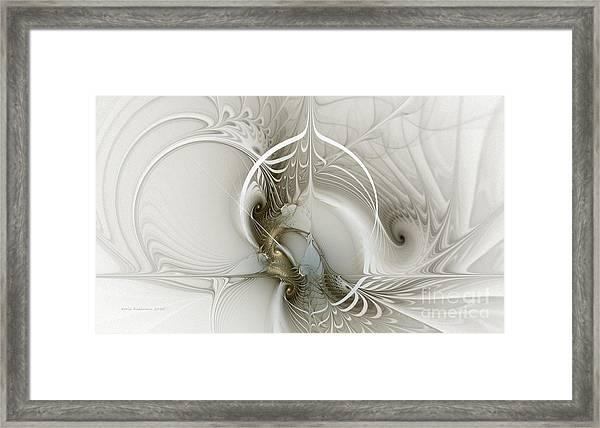 Gateway To Heaven-fractal Art Framed Print