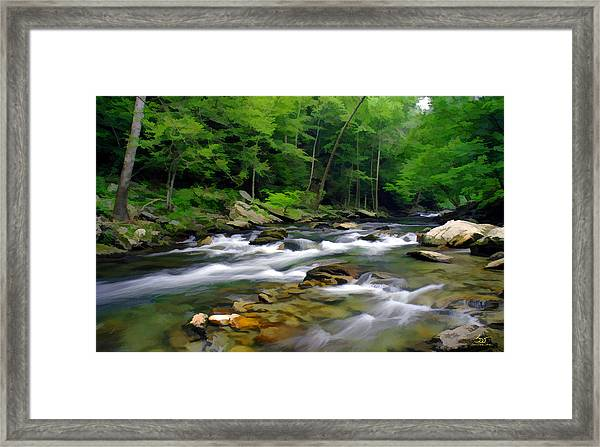 Gatlinburg Stream Framed Print