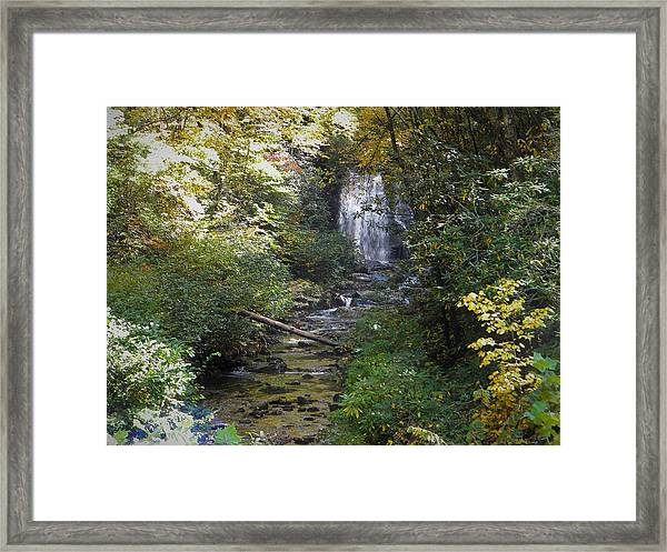 Gatlinburg Tn Waterfall Framed Print