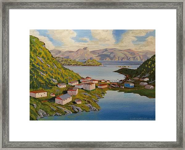Gaultois Village Newfoundland Framed Print