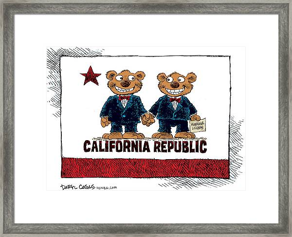 Gay Marriage In California Framed Print