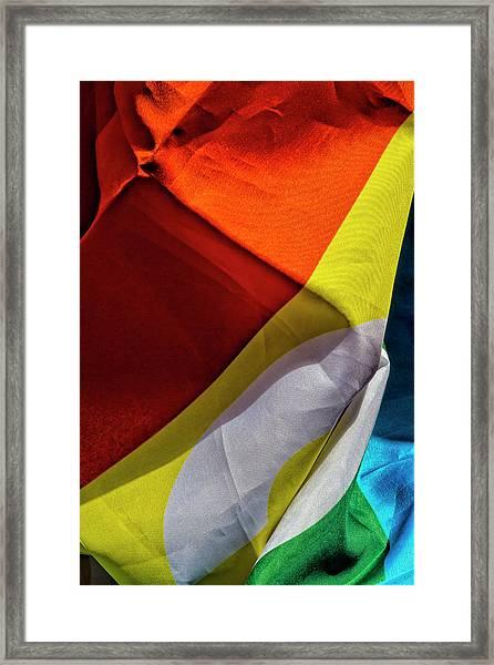 Gay Pride 2017 Nyc Pride Flag Framed Print by Robert Ullmann