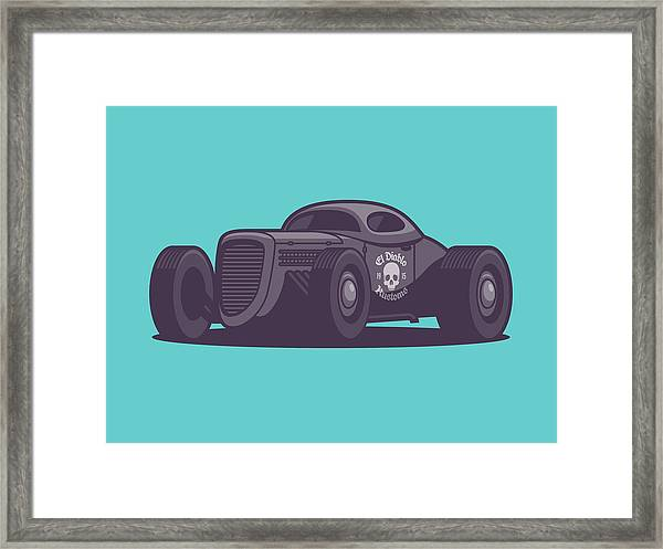 Gaz Gl1 Custom Vintage Hot Rod Classic Street Racer Car - Aqua Framed Print