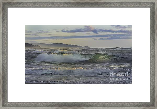 Gazing At The Ocean Surf Framed Print