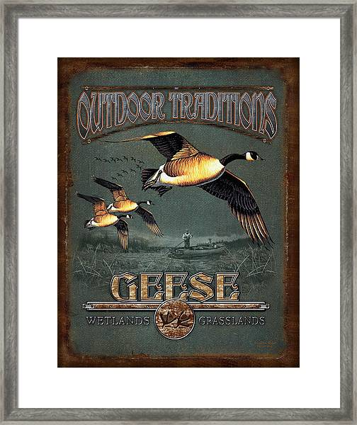 Geese Traditions Framed Print
