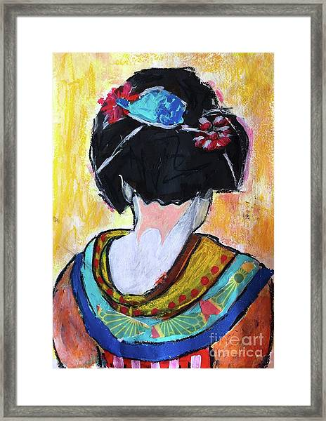 Geisha Girl  Framed Print