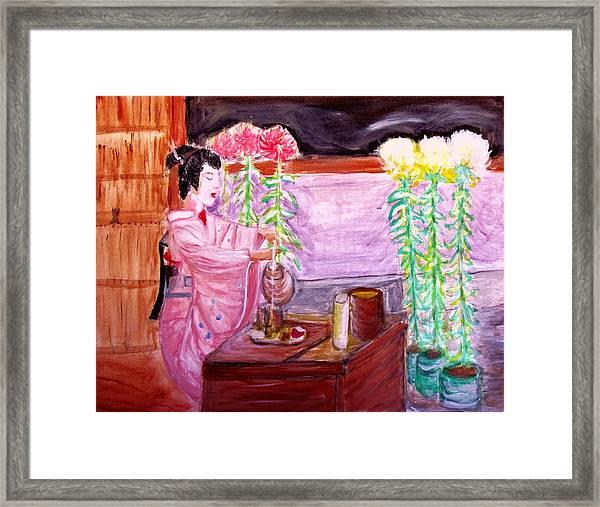 Geisha Tea Ceremony Framed Print