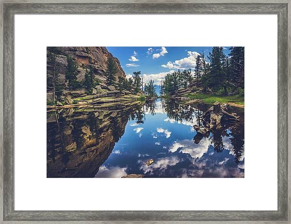 Gem Lake Reflections Framed Print