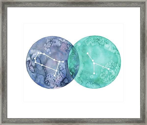 Gemini And Cancer Framed Print